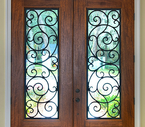 Faux Wrought Iron traditional-entry