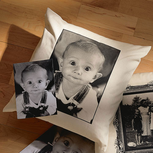 Personalized Photo Accent Pillow contemporary pillows
