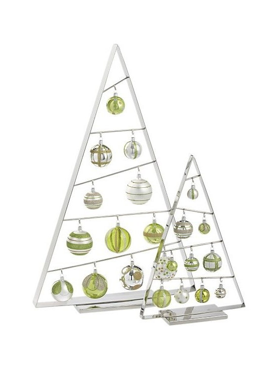 Large Ornament Tree in Christmas Decorating   Crate and Barrel -
