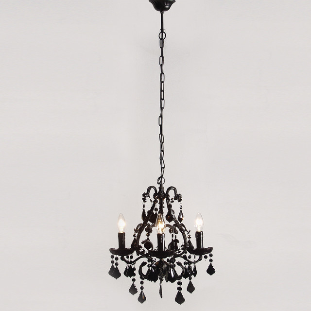 mini sexy rexy black chandelier contemporary chandeliers by the french bedroom company. Black Bedroom Furniture Sets. Home Design Ideas