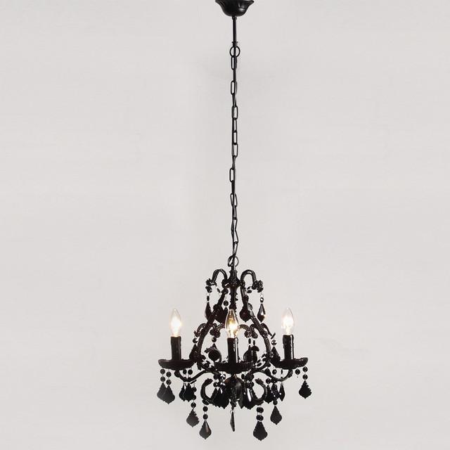 mini sexy rexy black chandelier contemporary