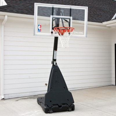 Spalding pro style 54 inch acrylic portable basketball for Portable window curtain