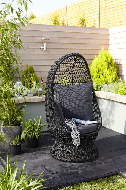 anya rattan effect egg chair contemporary garden lounge chairs south east by b q. Black Bedroom Furniture Sets. Home Design Ideas