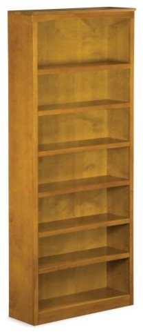 Arrange your books in the Atlantic 84 in. Bookshelf - Caramel Latte and ensure a traditional-bookcases