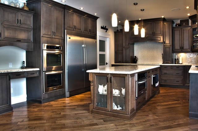 Weathered Slate Stunner! - Traditional - Kitchen Cabinetry - edmonton - by Kitchen Craft Edmonton