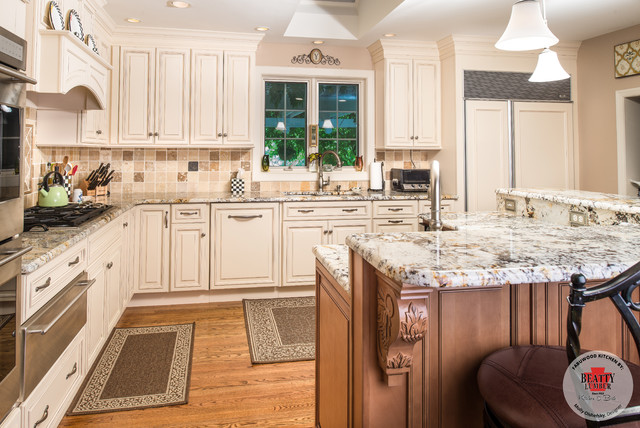 Wellington Ivory Cabinetry With Spice Island Traditional