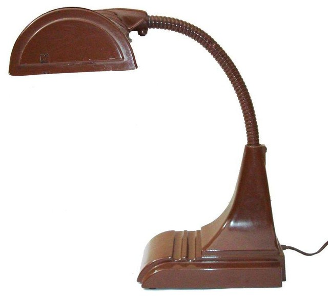 pre owned mid century deco desk lamp midcentury desk lamps by. Black Bedroom Furniture Sets. Home Design Ideas