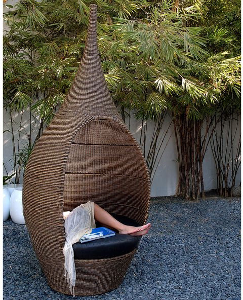 Neoteric Genie Modern Outdoor Wicker Patio Chair contemporary-outdoor-lounge-chairs