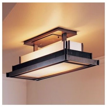 Steppe Semi-Flushmount With Art Glass - Large by Hubbardton Forge modern-everyday-glasses