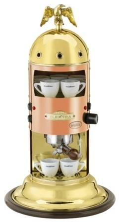Elektra Mini Verticale Semi Automatica Copper & Brass Espresso Machine industrial-coffee-makers-and-tea-kettles