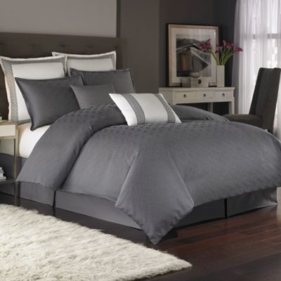 Nicole Miller Metropolitan Twin Duvet Cover In Charcoal