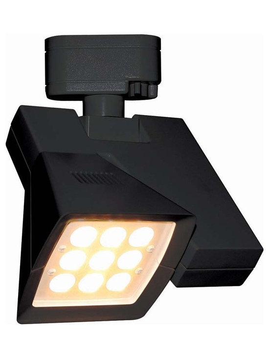 "WAC - WAC Logos 24 Degree Black 23W LED Track Head for Juno - Logos track head for use with Juno track systems. Black finish. 24 degree beam spread. Includes 23 watt LED. Light output is 1845 lumens. 2700K color temperature. CRI is 85. Average bulb life is 100000 hours when used 3 hours a day. Dimmable down to 10 percent with ELV dimmer. ENERGY STAR® rated. Low voltage. 8 3/4"" high. 7 1/4"" wide.  Logos track head for use with Juno track systems.  Black finish.  24 degree beam spread.  Includes 23 watt LED.  Light output is 1845 lumens.  2700K color temperature.  CRI is 85.  Average bulb life is 100000 hours when used 3 hours a day.  Dimmable down to 10 percent with ELV dimmer.  ENERGY STAR® rated.  Low voltage.  8 3/4"" high.  7 1/4"" wide."