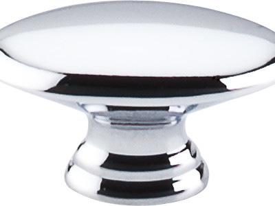 "Oval Knob 1 1/2"" - Polished Chrome transitional-cabinet-and-drawer-knobs"
