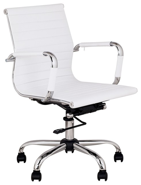 Desk chairs contemporary interior decorating for Modern white office chair