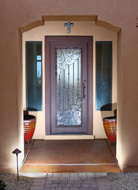 Iron Entry Doors traditional-front-doors