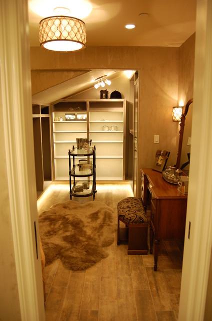 Bathroom dressing room combiniation transitional for Bathroom and dressing room ideas