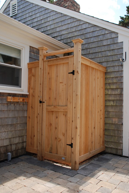 Standard Cedar Outdoor Shower Enclosure - boston - by Cape Cod Shower Kits Co.