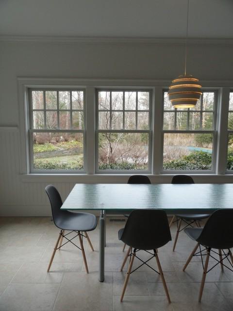 modern interior installation with aalvar aalto beehive pendant lights scandinavian new york. Black Bedroom Furniture Sets. Home Design Ideas