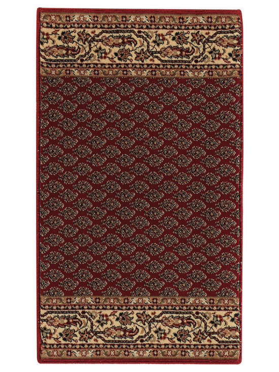 """Satin Mir runner roll rug in Red Cream - The crisp, traditional designs, fashion forward colorations and extra tight packed pile (1/2"""" thick) will wear like iron and give years and years of superior service."""