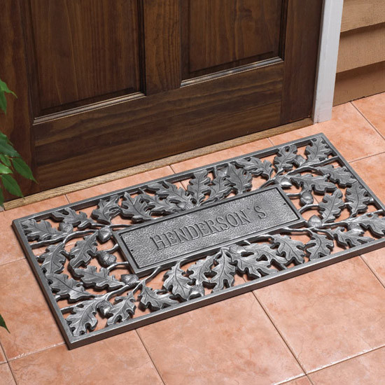 Oak & Acorn Personalized Door Mat - Traditional - Home ...