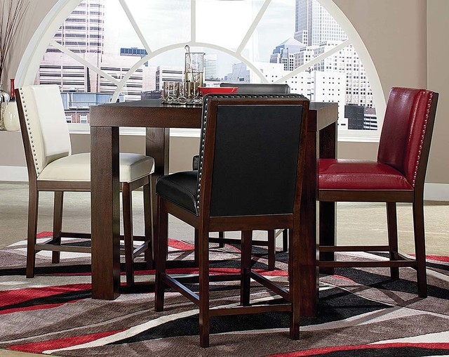 couture elegance 5 piece dinette set contemporary dining room columbus by american. Black Bedroom Furniture Sets. Home Design Ideas