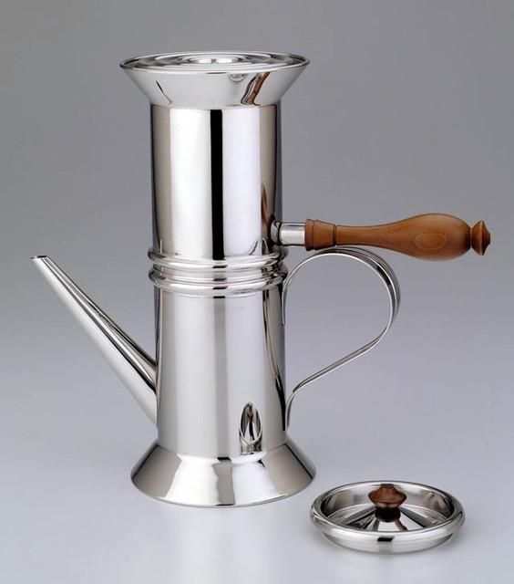 Alessi Italian Coffee Maker : STOVETOP ESPRESSO MAKER - ALESSI NEAPOLITAN COFFEE - 90018 - STARDUST - Modern - Coffee Makers ...