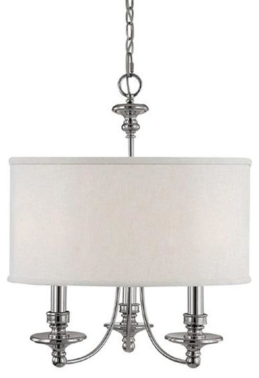 Capital Lighting 3913PN-453 3 Light Chandelier Midtown Collection contemporary-chandeliers