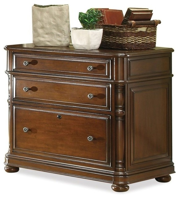 Bristol Court Lateral File Cabinet in Cognac Cherry Finish - Contemporary - Filing Cabinets - by ...