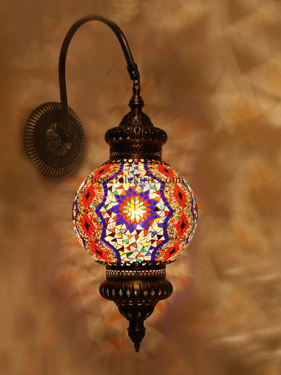 Turkish Style Mosaic Lighting Wall Sconce - Code: HD-20003_10