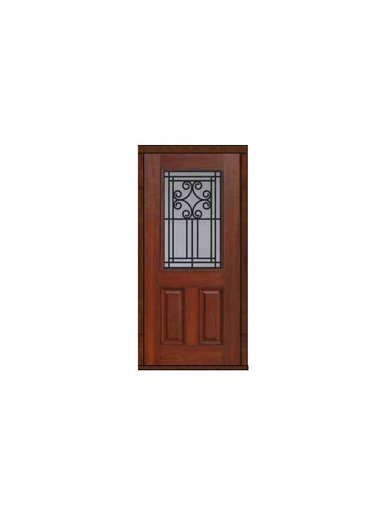 "House Single Door 80 Fiberglass Novara 2 Panel 1/2 Lite - SKU#    MCT012WNBrand    GlassCraftDoor Type    ExteriorManufacturer Collection    1/2 Lite Entry DoorsDoor Model    NovaraDoor Material    FiberglassWoodgrain    Veneer    Price    980Door Size Options      +$percent  +$percentCore Type    Door Style    Door Lite Style    1/2 LiteDoor Panel Style    2 PanelHome Style Matching    Door Construction    Prehanging Options    Slab , PrehungPrehung Configuration    Single DoorDoor Thickness (Inches)    1.75Glass Thickness (Inches)    Glass Type    Double GlazedGlass Caming    Glass Features    Tempered glassGlass Style    Glass Texture    Glass Obscurity    Door Features    Door Approvals    Energy Star , TCEQ , Wind-load Rated , AMD , NFRC-IG , IRC , NFRC-Safety GlassDoor Finishes    Door Accessories    Weight (lbs)    248Crating Size    25"" (w)x 108"" (l)x 52"" (h)Lead Time    Slab Doors: 7 Business DaysPrehung:14 Business DaysPrefinished, PreHung:21 Business DaysWarranty    Five (5) years limited warranty for the Fiberglass FinishThree (3) years limited warranty for MasterGrain Door Panel"