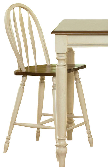 Liberty furniture low country sand 24 inch windsor back counter height stool se traditional - Windsor back counter stools ...