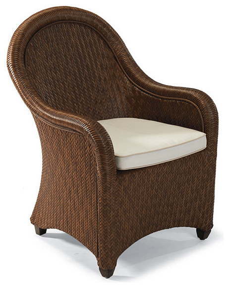 Seychelles Dining Arm Chair with Cushion Traditional
