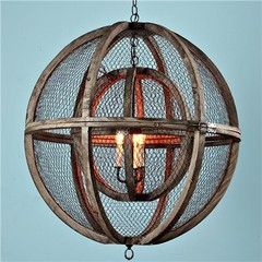 Double Wire Sphere Chandelier - Shades of Light