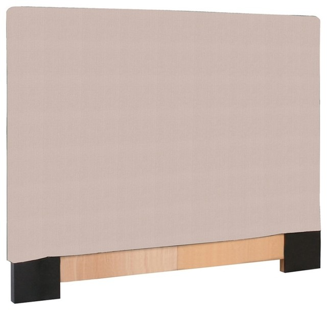 Howard Elliott Prairie Linen Natural Twin Slipcovered Headboard modern-headboards