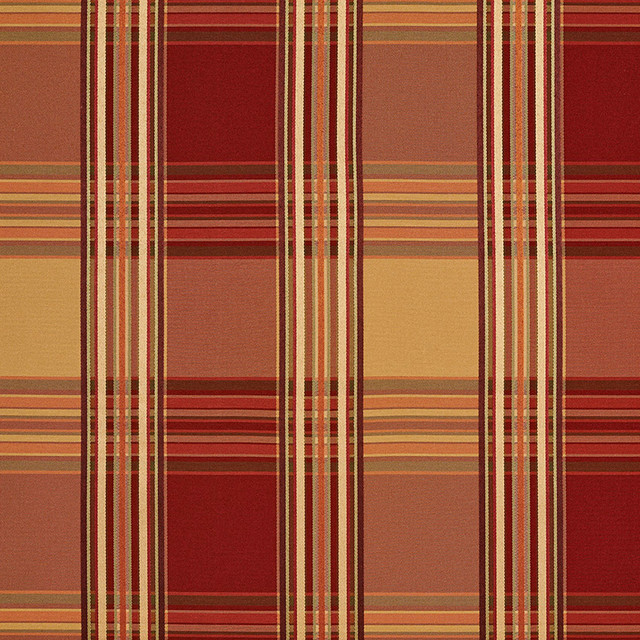 Red Gold Shiny Striped Plaid Luxurious Faux Silk