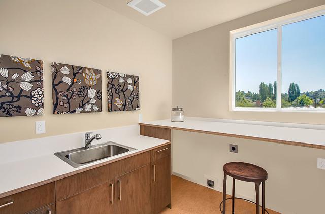Madison Park House modern-laundry-room