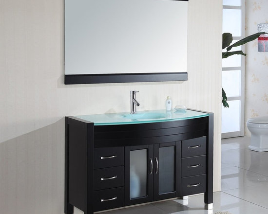 Tempered Glass Top Vanities - The ideal home has sufficient space for every needed piece of furniture, but others have narrow space to work with. Today, some homeowners pick to use contemporary Tempered Glass Top Vanities that works as a dresser as well. Instead of buying modern Tempered Glass Top Vanities for their bathroom and a dresser in their bedroom, they pick a comparatively larger bath vanity to serve together purposes. The drawer and other compartments for Tempered Glass Top Vanities may be used as storage for makeup, hair accessories, underwear, personal effects, and other beauty products. In this manner, you'll be saving more space and maximizing the use of your Tempered Glass Top Vanity.