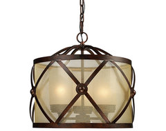 Cumberland Drum Pendant transitional-pendant-lighting