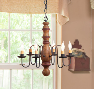 Lighting - Farmhouse - Chandeliers - new york - by Country Primitive Workshop