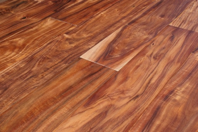 Acacia asian walnut hand scraped hardwood floors for Hand scraped wood floors
