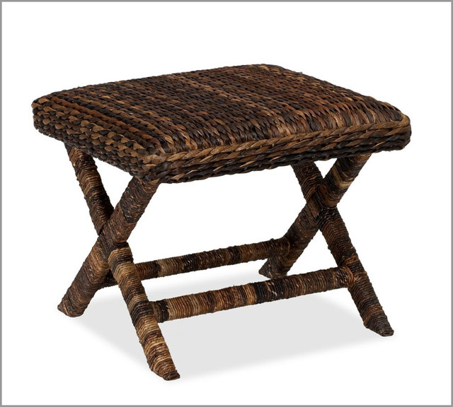 Seagrass Stool - Rustic - Vanity Stools And Benches - by potterybarn.com.au