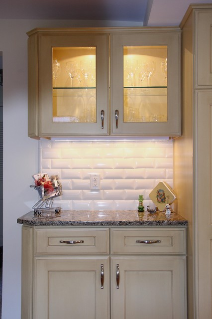Subway Tile & Buttery Cabinetry traditional