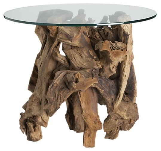 Driftwood End Table | Crate&Barrel eclectic side tables and accent tables