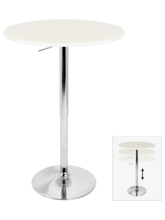 Adjustable Bar Table - WHITE