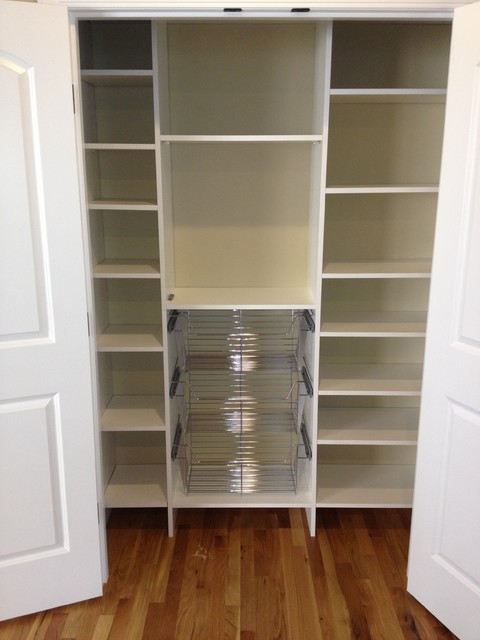 Pantry w/ chrome baskets - Pantry Cabinets - seattle - by ...