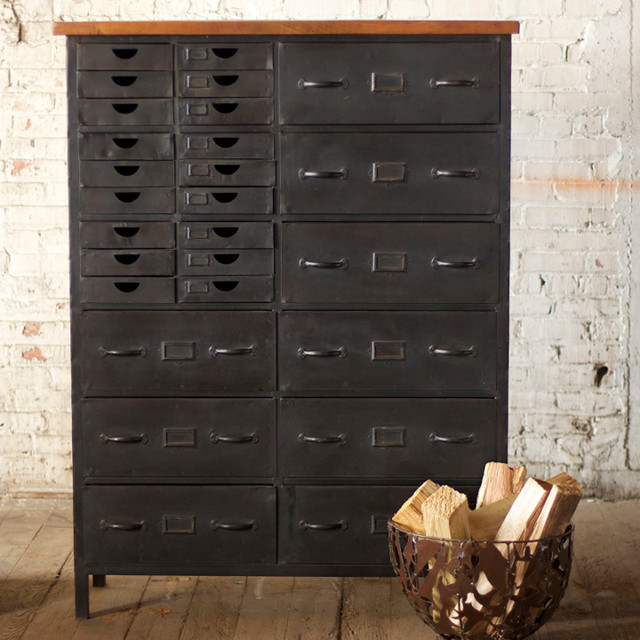 Iron Chest with 27 Drawers traditional-bedroom-products