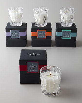 "Waterford ""Citrus Basil"" Filled Candle traditional-candles"