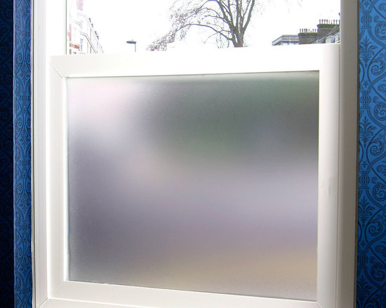 Simply Private Frosted Privacy Film - 3 ft. x 4 ft. - This fully frosted adhesive designer privacy film is designed to add dimension to any space needing to block visibility through glass windows. This sanded / frosted film is easily applied and can be removed without leaving heavy residue (in most circumstances). Perfect for shower doors, glass windows in bathrooms or bedrooms and any other location needing visual privacy. Trims to fit many shapes & sizes of windows. The frosted privacy film is created to allow the most natural light penetration without altering the hue and color of the light source. All films are printed with eco friendly inks and are suitable for indoor or outdoor use.