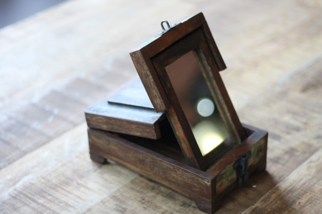 Vintage reclaimed wood barber box rustic jewelry for Reclaimed wood san francisco