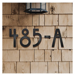 Willow house letters contemporary house numbers by for Exterior letters and numbers